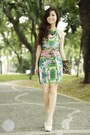 Green-urban-dressing-dress-off-white-call-it-spring-heels
