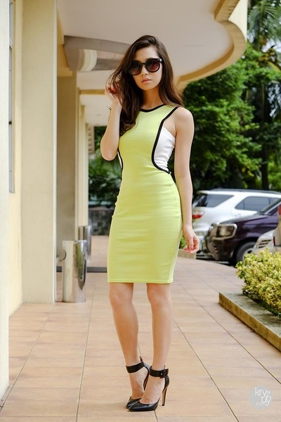 lime green OMG Fashion dress