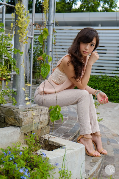 off white WAGW intimate - light pink ellysage top