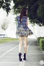 Purple-lulus-heels-gold-cesa-shorts-navy-bianca-pitogo-vest