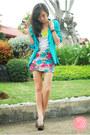 Aquamarine-clothes-off-blazer-dark-khaki-windsor-skirt