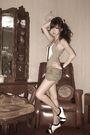 Green-gap-top-green-what-a-girl-wants-shorts-beige-telebasura-accessories-