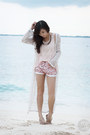 Light-pink-ellysage-shorts-light-pink-ellysage-top-white-ramp-cardigan