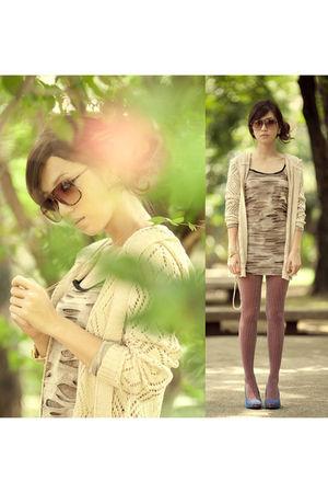 beige httpwagwmultiplycom cardigan - beige httpwagwmultiplycom dress - purple ca