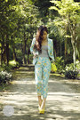 Yellow-choies-bag-light-blue-cesa-suit