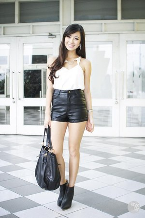 black WAGW shorts - white Thea by Thara top