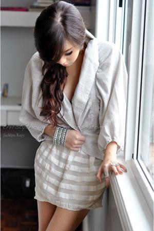 silver karimadon top - white Topshop skirt