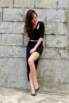 black Fanstasia dress - black michael antonio heels