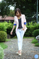 light pink WAGW blazer - white Yesstyle jeans - navy WAGW top