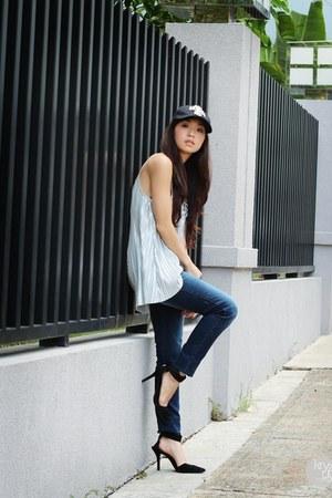 navy Wrangler jeans - black Love eye candy hat