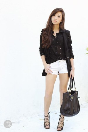 black Choies shoes - black shopwagwcom blazer