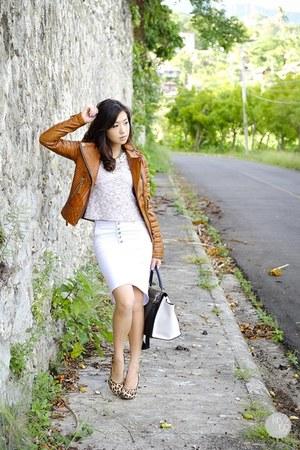 bronze Boda Skins jacket - white WAGW skirt
