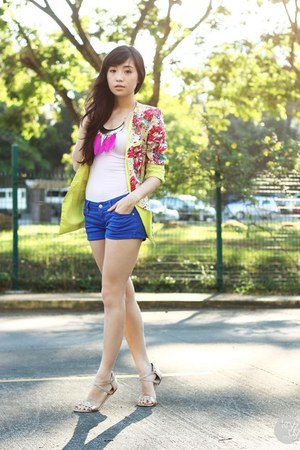 yellow Korean Rose blazer