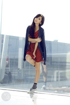 ruby red clothes for the goddess dress - navy Gap cardigan - white Keds sneakers