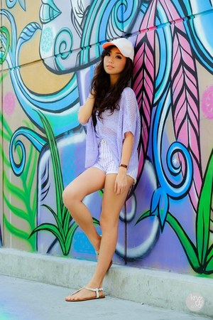 light purple ianywear sweater - white giftsahoy sandals