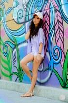 light purple ianywear sweater - white giftsahoy sandals
