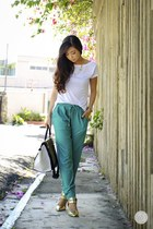 white tracyeinny top - aquamarine tracyeinny pants