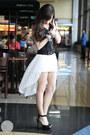 White-runway-dreams-dress-black-zara-heels