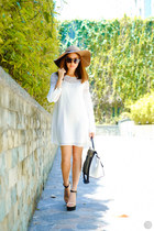 white Sheinside dress