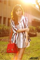 heather gray httpwagwmultiplycom dress - navy httpwagwmultiplycom blazer - red h