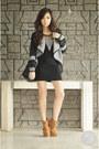 Dark-khaki-stylomylo-boots-black-romwe-jacket-black-alexander-mcqueen-bag