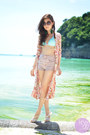 Coral-clothes-off-cardigan-aquamarine-roxy-swimwear-white-mel-sandals