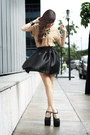 Gold-diddco-top-black-das-heels-black-sheinside-skirt