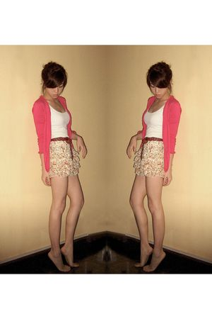 pink esprit de corps cardigan - yellow What A Girl Wants skirt - brown What A Gi
