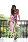 Hot-pink-wagw-dress-black-h-m-dress-tan-michael-antonio-heels
