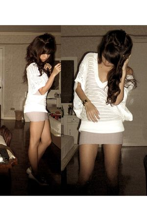 purple Topshop skirt - white What A Girl Wants top