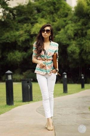 cream lemon blazer - dark brown Burberry sunglasses