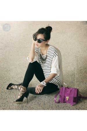 magenta PROENZA SCHOULER bag - black Zero UV sunglasses - white WAGW top