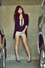 Black-h-m-cardigan-black-mango-top-beige-telebasura-accessories-blue-zara-