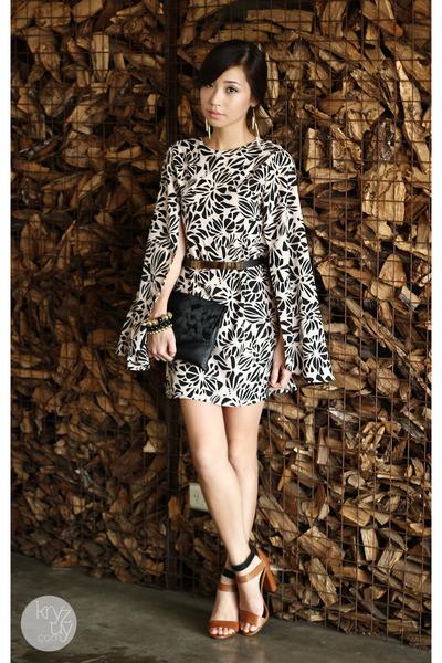 beige My madison dress - black dresstronomy bag - black my everyday fashion belt