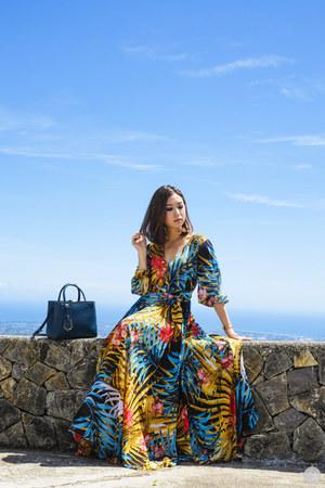 blue romwe dress