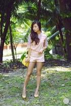 peach WAGW top - beige Choies heels