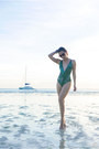 Turquoise-blue-i-love-koi-swimwear