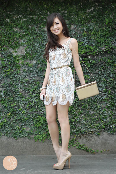 white TFNC LONDON dress - eggshell Call it Spring heels