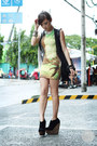 Lime-green-motel-rocks-dress-black-alexander-mcqueen-bag-white-romwe-vest