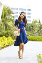 blue thrift market dress
