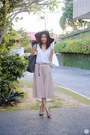 Charcoal-gray-faure-le-page-bag-off-white-gu-skirt