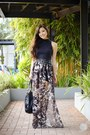 Dark-brown-dresscode-project-skirt