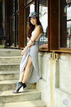 heather gray Sheinside skirt