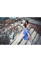 aquamarine WAGW top - navy Choies skirt