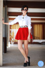 White-oh-my-frock-top-red-clothes-for-the-goddess-skirt-black-romwe-flats