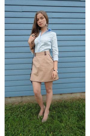 H&M shirt - Indiska ring - GINA TRICOT skirt - Bershka heels