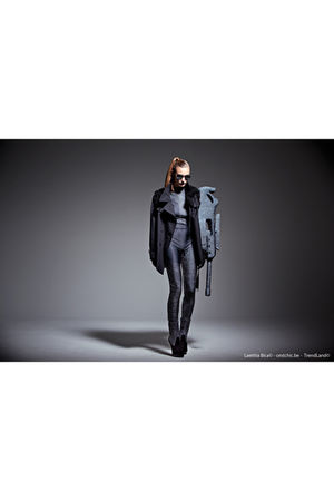 black jacket - gray - silver