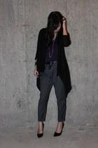 Forever XXI top - H&M cardigan - Zara pants - Aldo heels