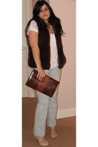 unknown brand vest - Country Road shirt - vintage purse - Country Road jeans - T