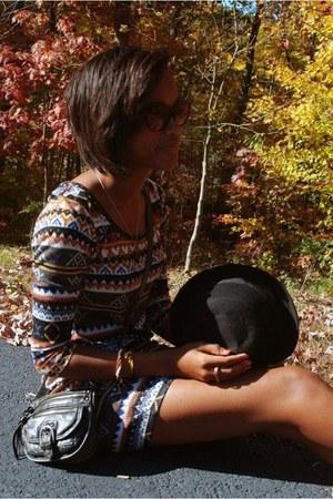 charcoal gray purse Aldo bag - tawny fall looks Forever 21 dress